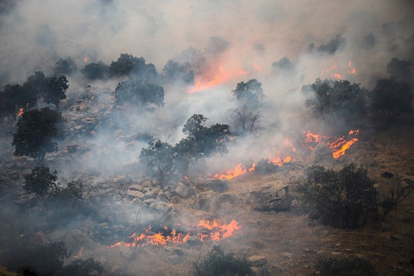 آمادگی کامل استان برای مقابله با سرایت آتش به منطقه خاییز