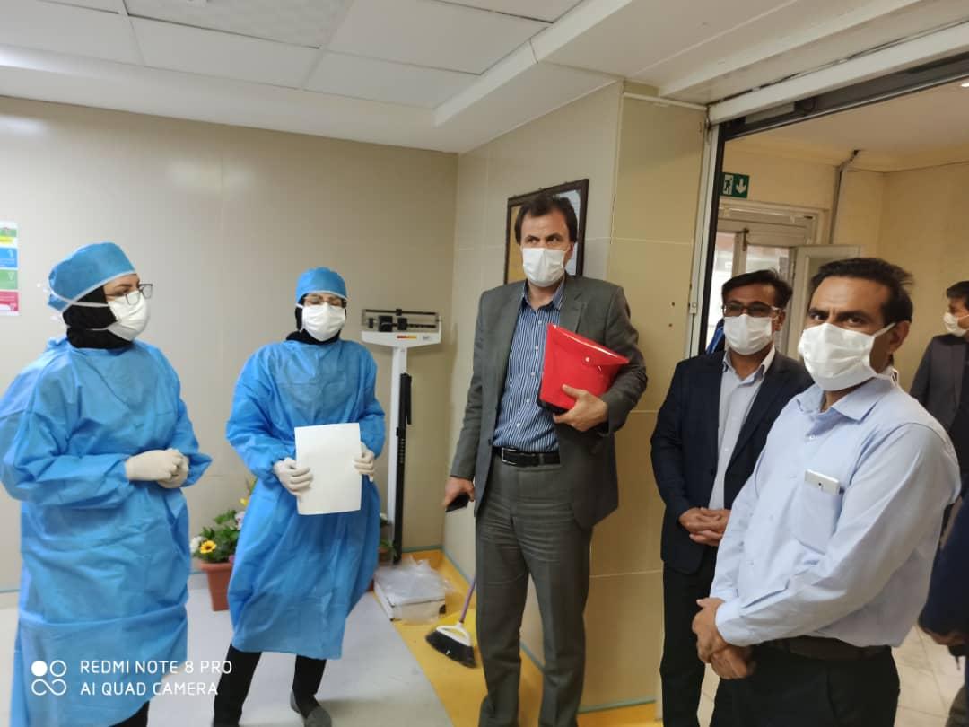 بازدید مدیر درمان تامین اجتماعی استان از بخشهای مختلف  بیمارستان شهدای گمنام یاسوج